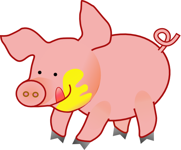 Hog clipart little piggy. Happy pig clip art