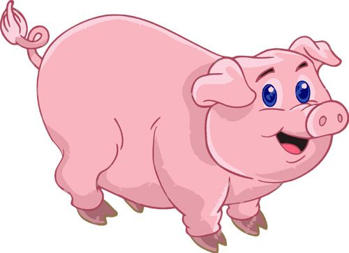 Hog clipart pink thing. Pin cute pig clip