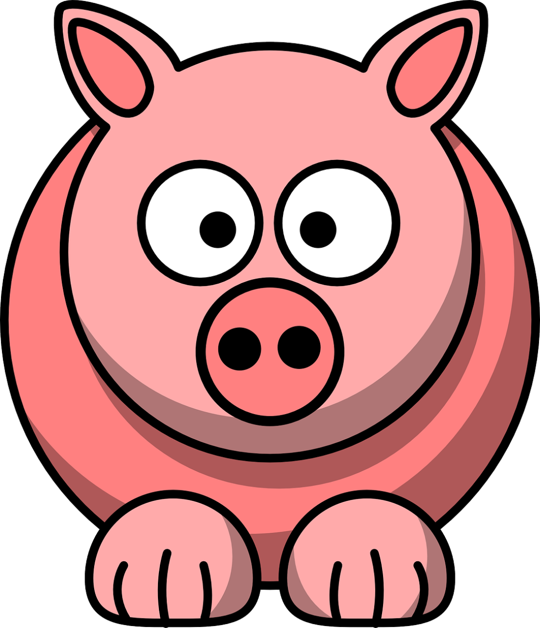 Hog clipart pink thing. Pig math for love