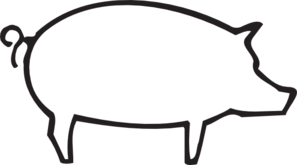 Hog vector clip art. Pig outline online royalty