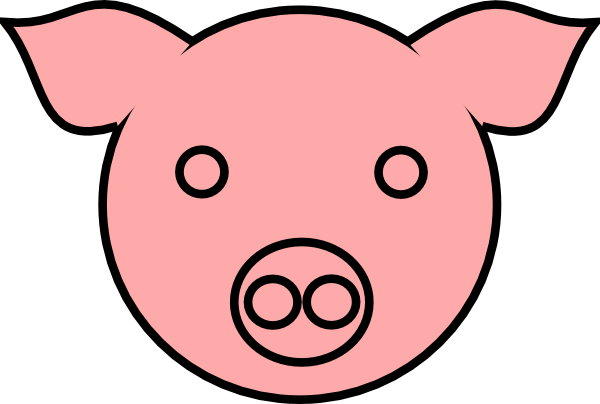 Hog vector face. Pig silhouette at getdrawings