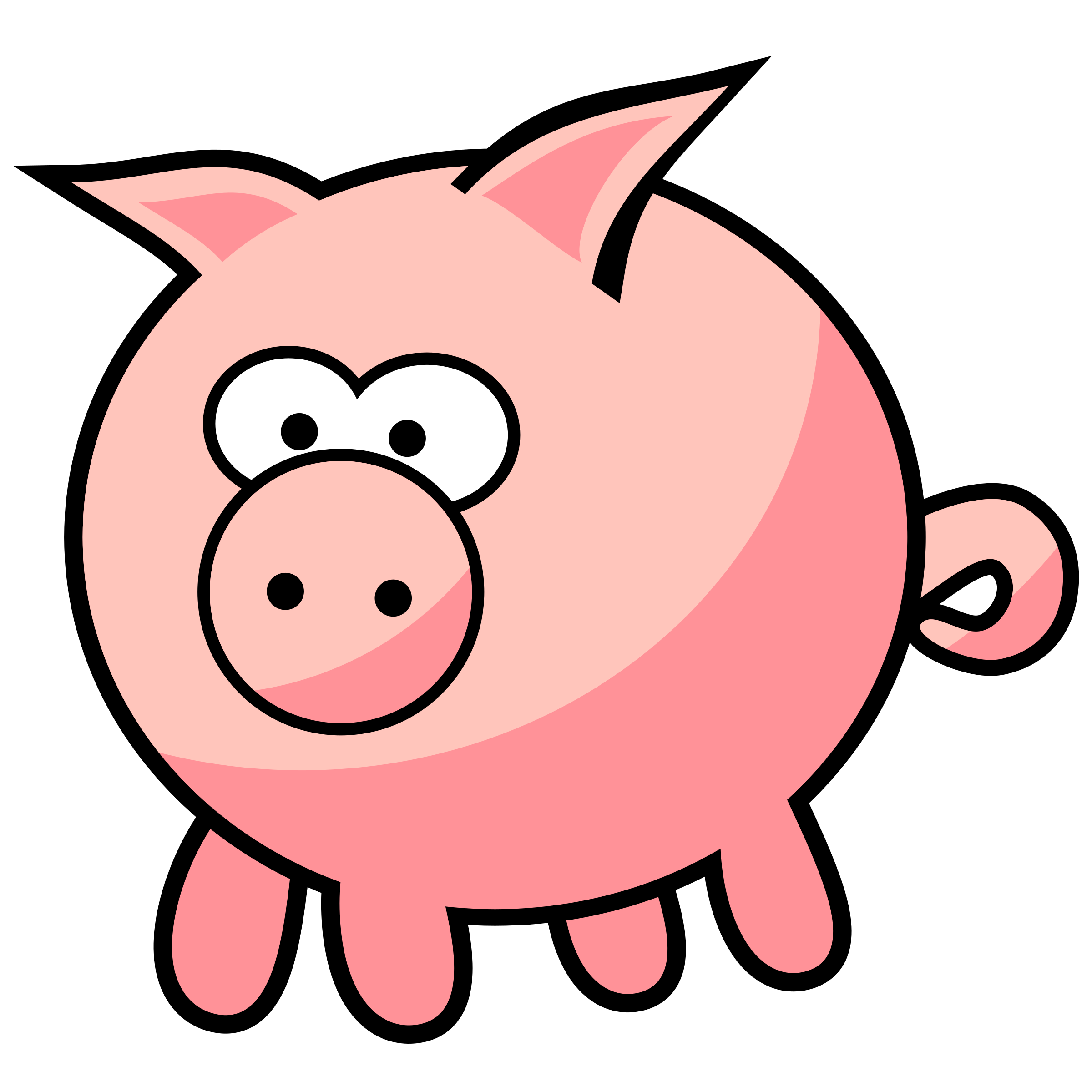 Hog vector tribal. Cartoon pig pictures group