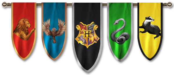 Hogwarts banner png. The houses school of
