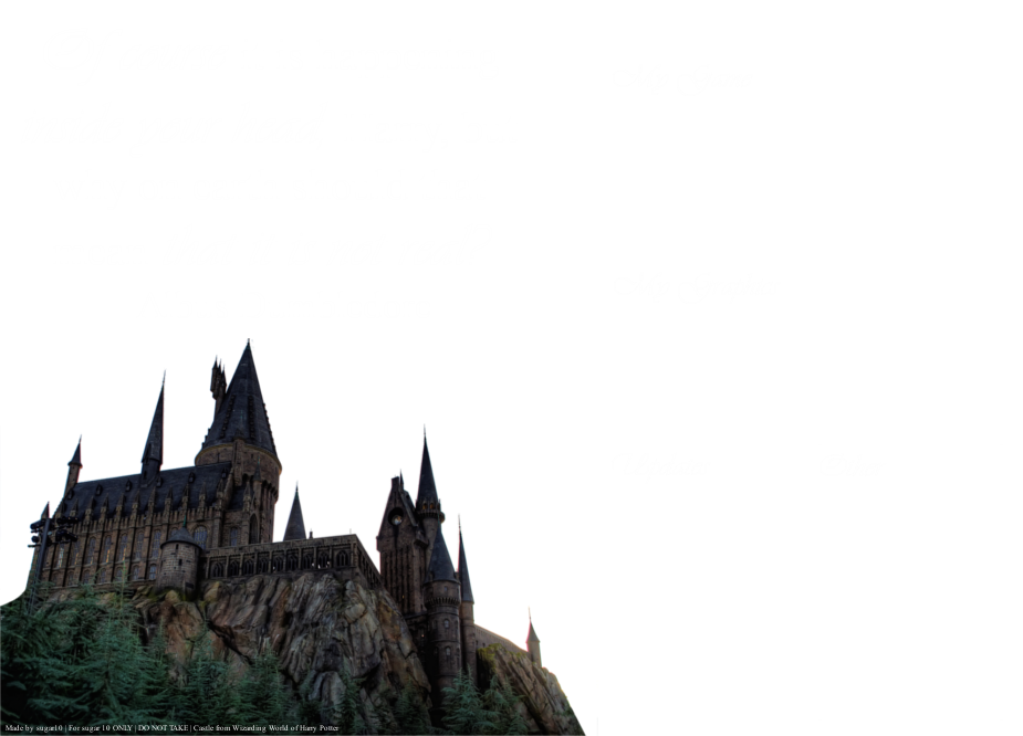 Hogwarts castle png. Layout by puresugar on