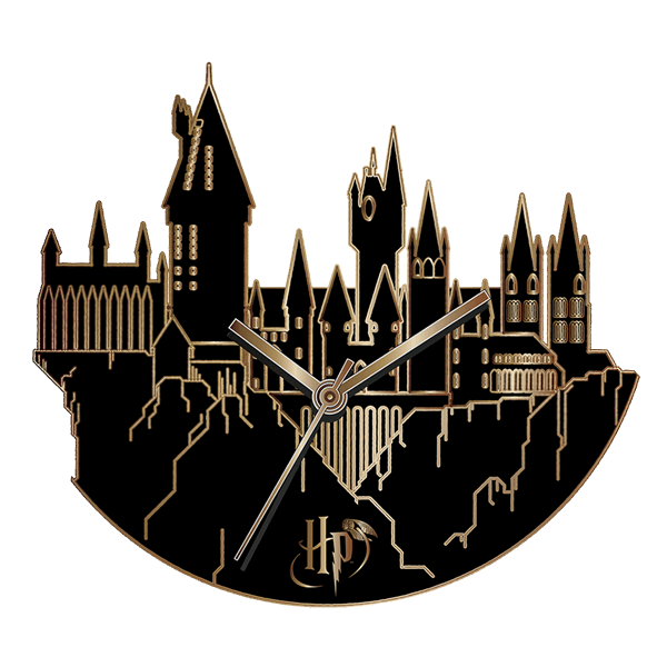 Hogwarts castle png. Harry potter wall clock