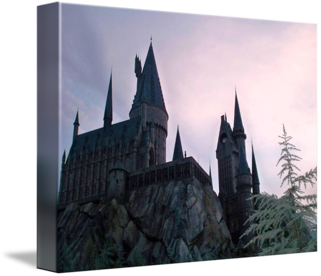 Hogwarts castle png. At sunset by kirby