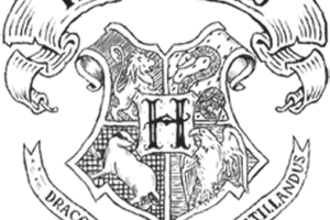 Castle image related wallpapers. Hogwarts crest black and white png vector transparent library