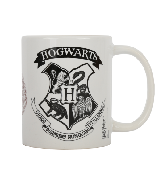 Hogwarts crest black and white png. Mug