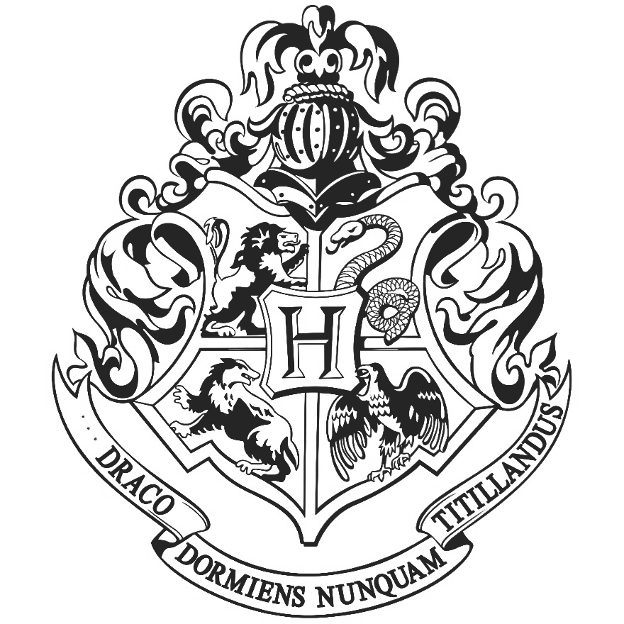 Logo monaco grand prix. Hogwarts crest black and white png picture library download