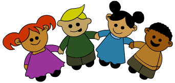 Kids holding hands png. Free cartoon download clip