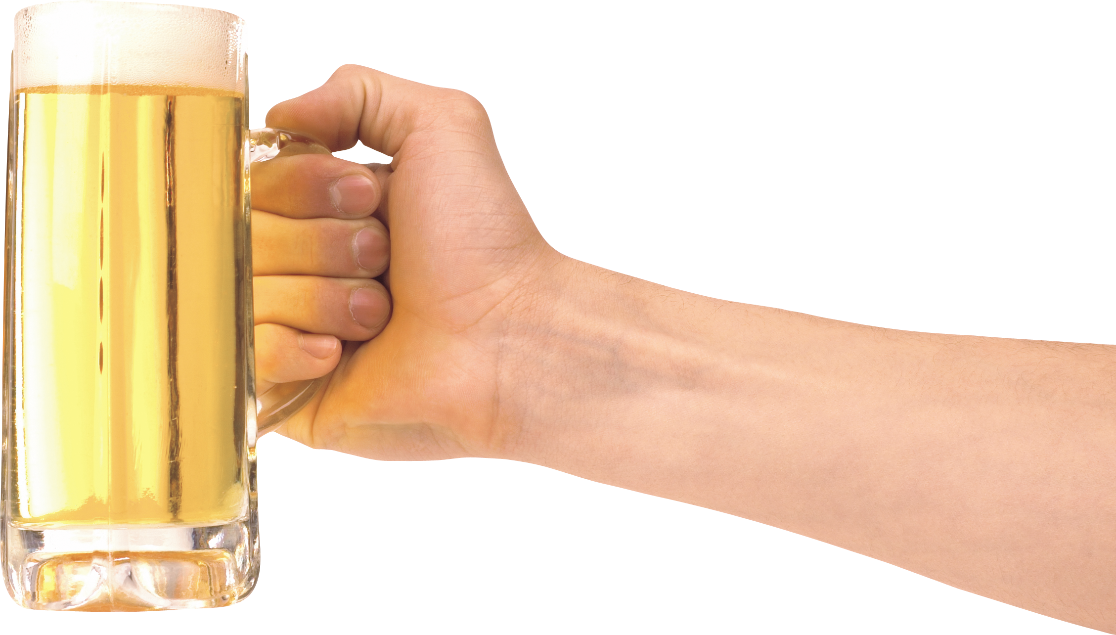 Hand holding drink png. Glass of beer one