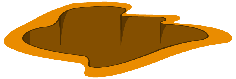 Transparent hole ground. Collection of clipart