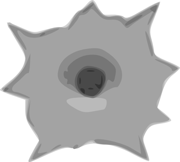 Hole clipart small. Bullet clip art at
