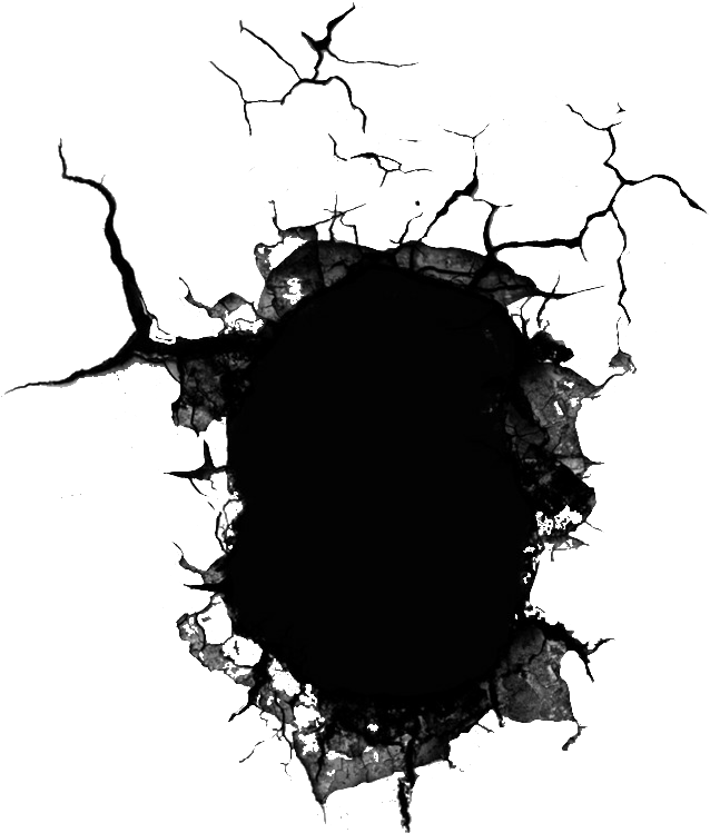 Download hole cracked cracking. Transparent cracks wall clip art black and white library