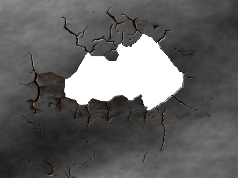 Hole in a wall png. On the psd official