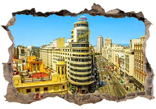 Hole in building png. Capitol madrid wall stickers