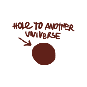 Hole to another universe png. Men s premium t