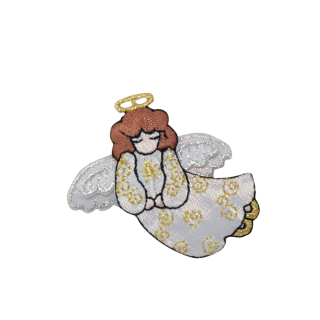 Holiday angels png. Embroidered patch iron on