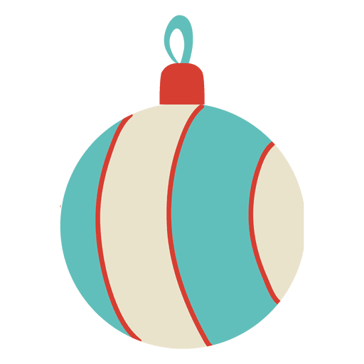 Holiday ball png. Christmas flat icon transparent