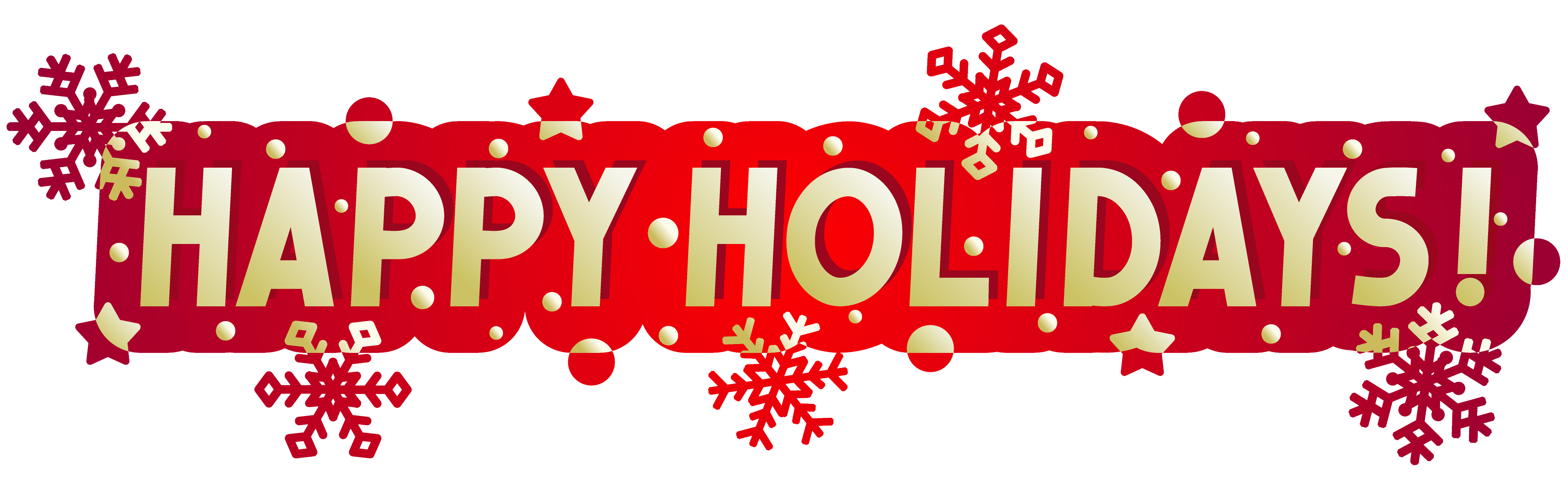 Holiday banner png. Happy holidays clip art