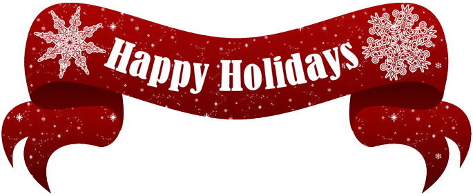 Holiday banner png. Happy holidays text free