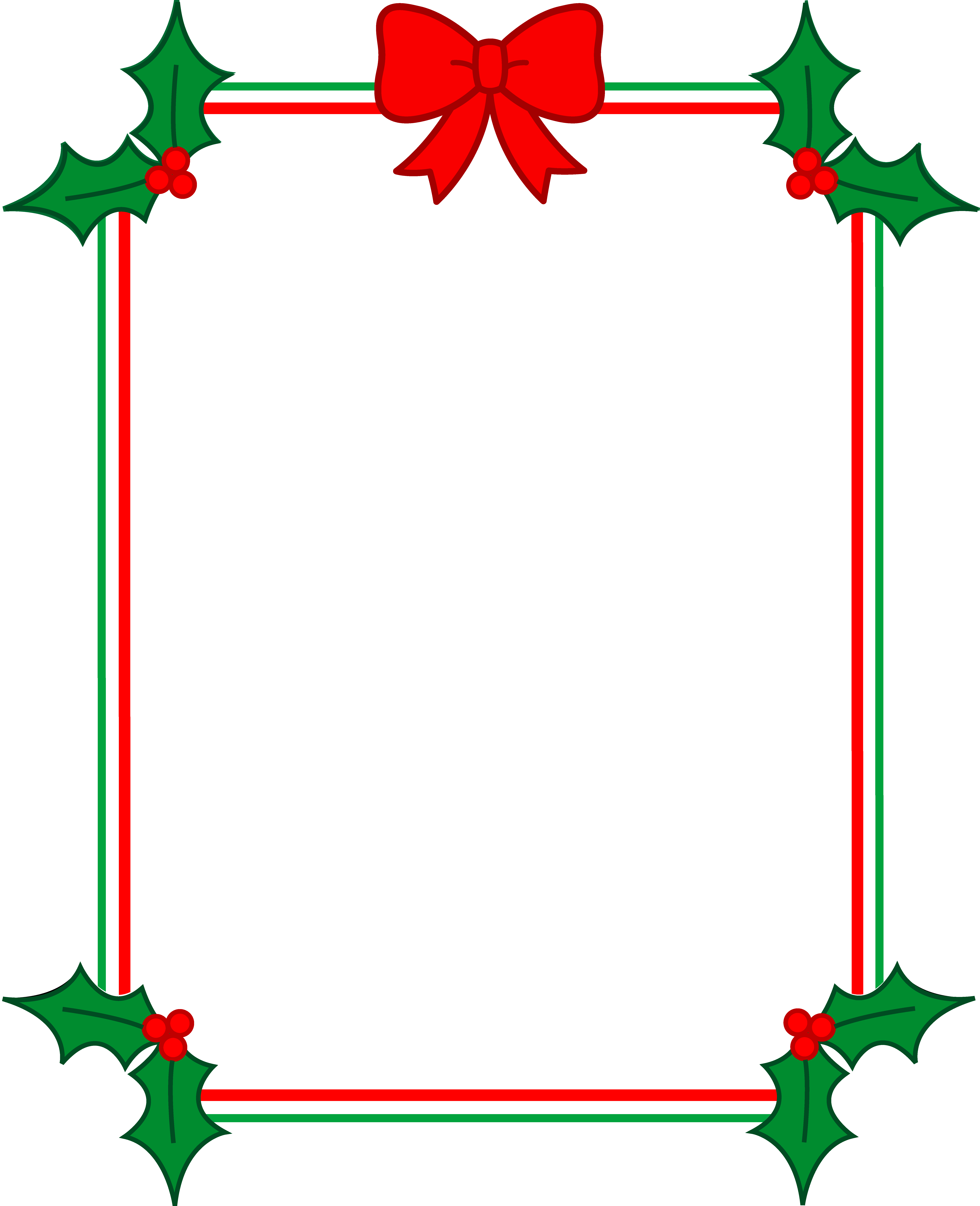 Holiday border frame png. Christmas with holly and
