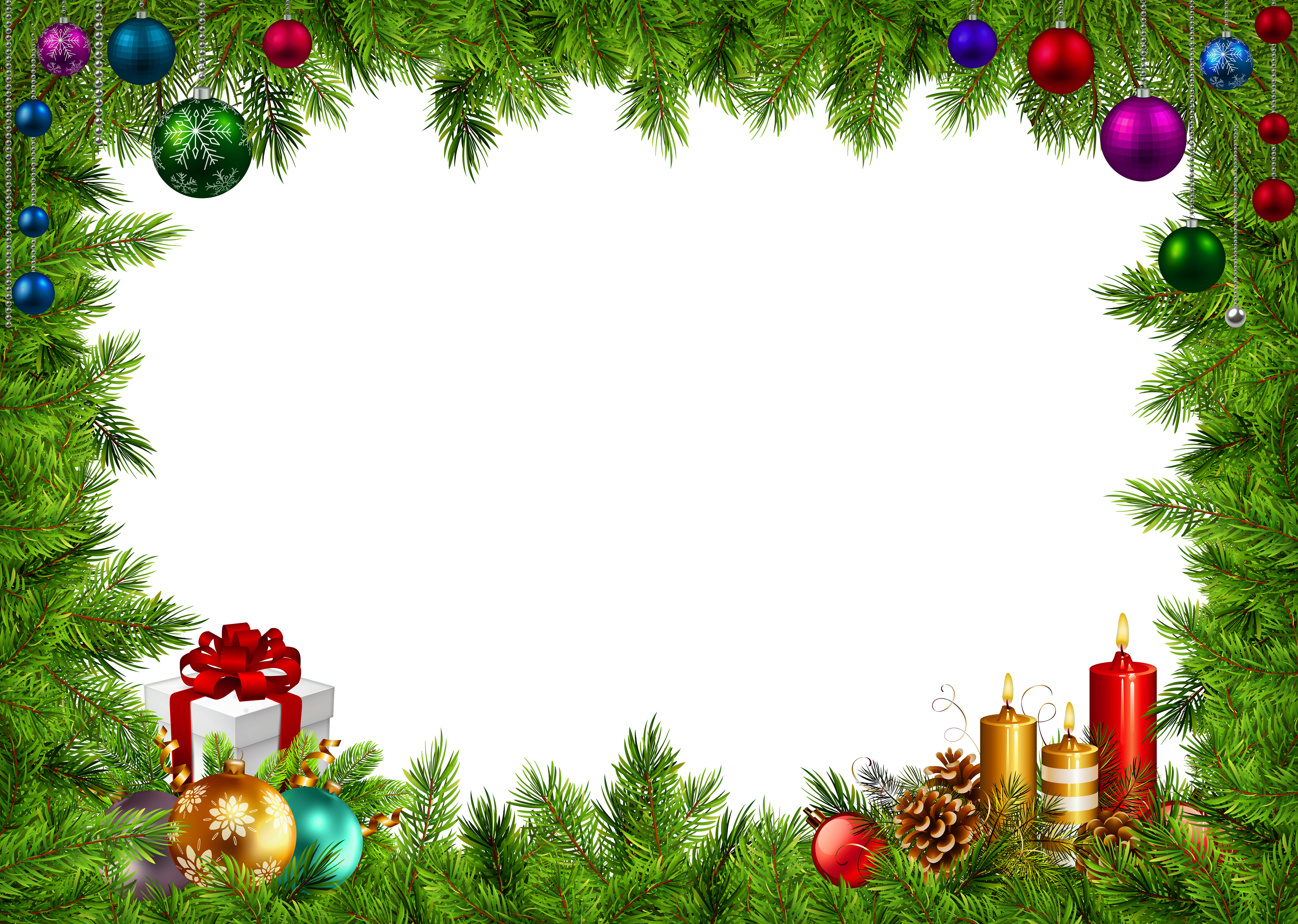 Holiday border frame png. Christmas image gallery yopriceville