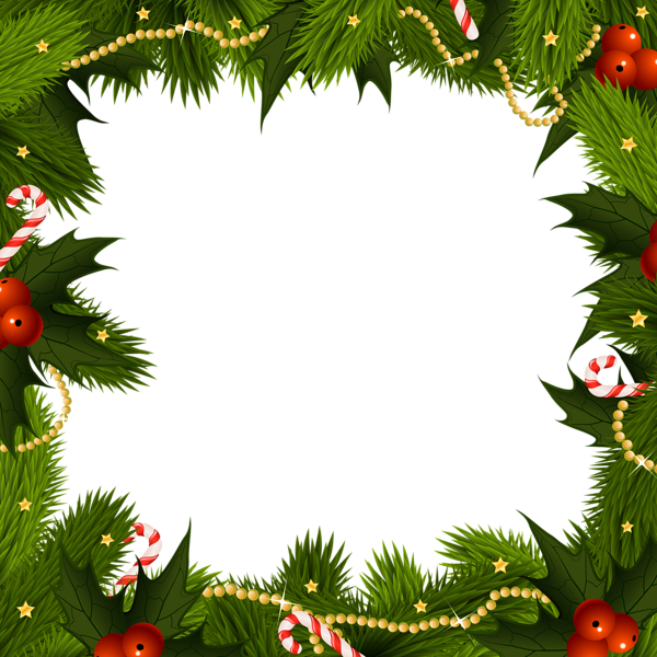 Holiday border png. Transparent christmas frame borders