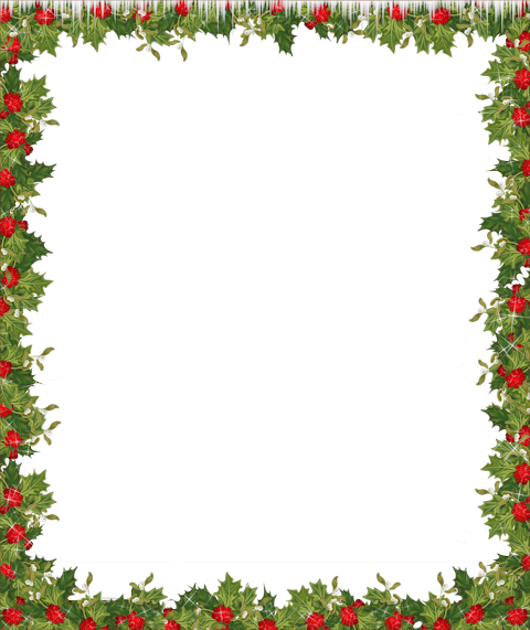Holiday borders png. Transparent frame scrapbooking christmas