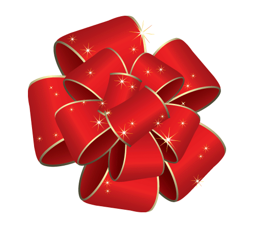 Holiday bow png. Collection of christmas