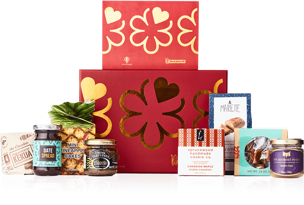 Holiday box png. Try the world michelin