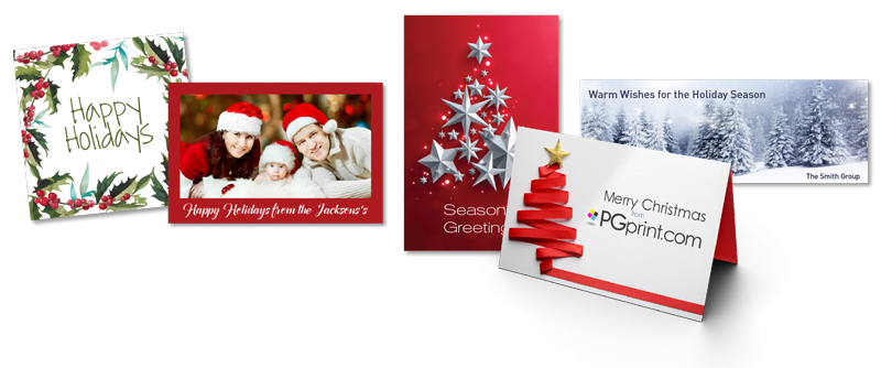 Holiday card png. Printing services pgprint com