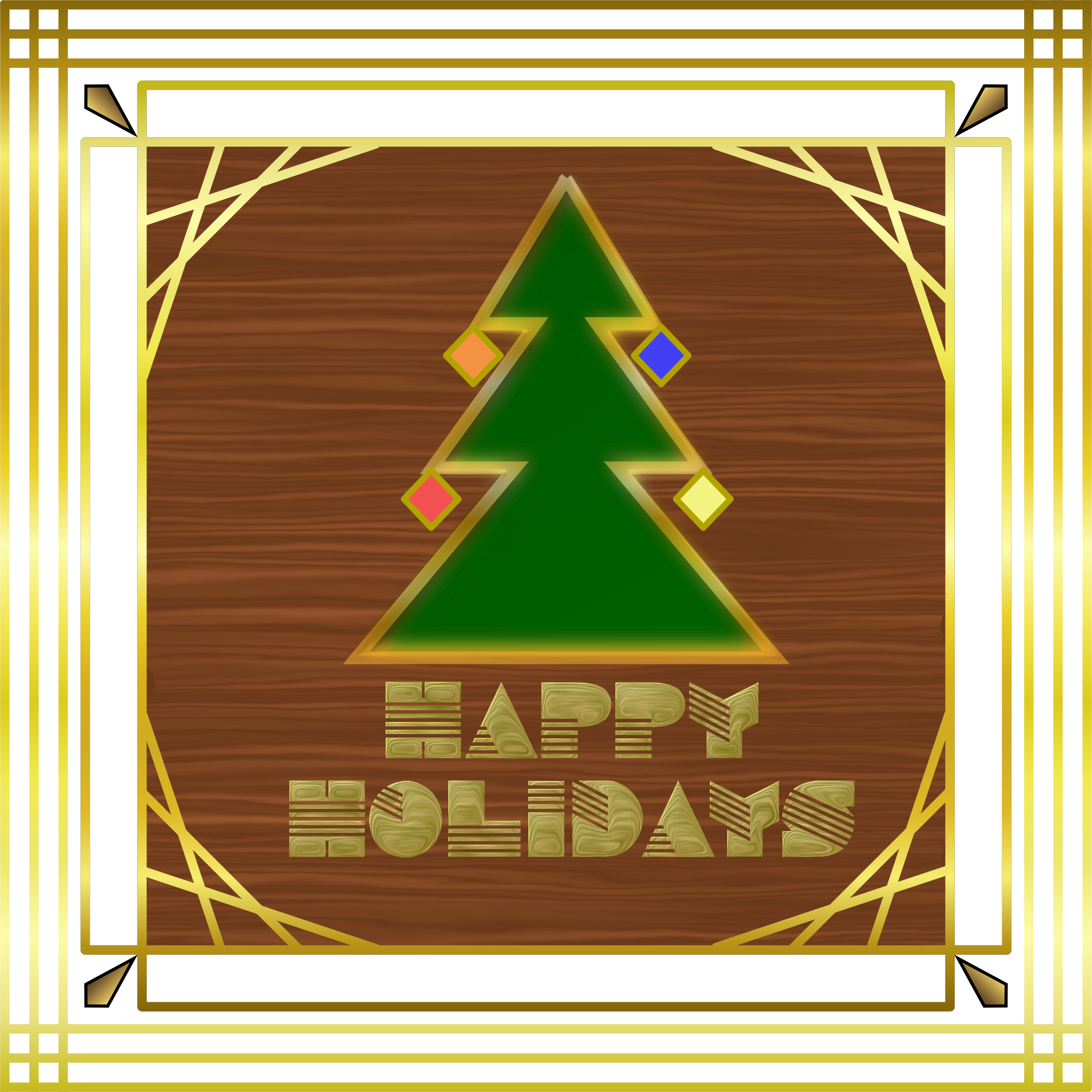 Holiday card png. Art deco icons free