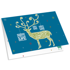 Holiday card png. Donation merchandise picture of