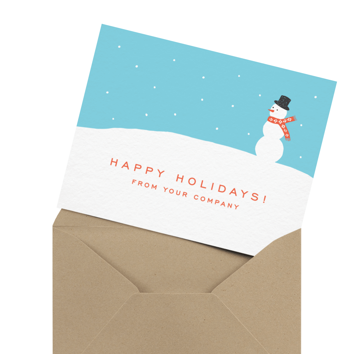 Holiday card png. Business cards mailed for