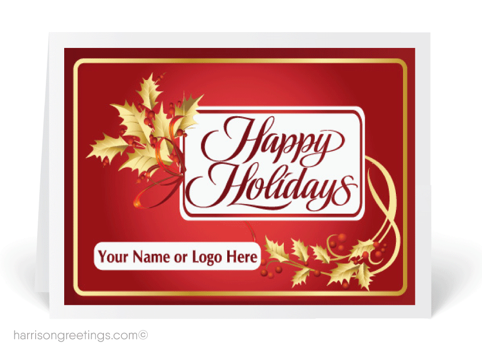Holiday card png. Custom industry cards harrison