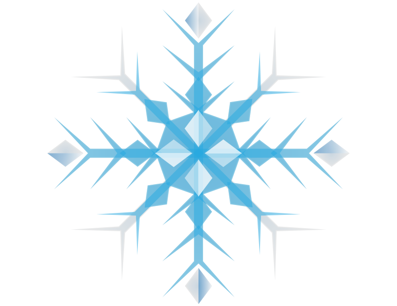 Snowflakes clipart blue. Free holiday snowflake cliparts