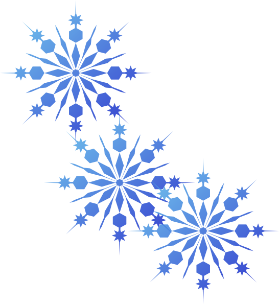 Snowflakes clipart blue. Clip art at clker