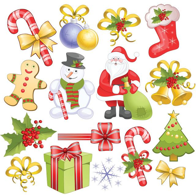 Xmas clipart design. Best christmas and