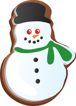 Holiday cookie png. Collection of cookies