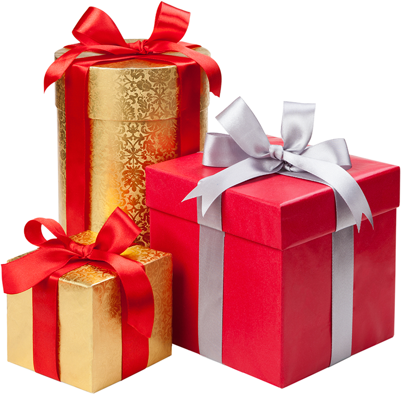 Presents png. Download hd holiday gift