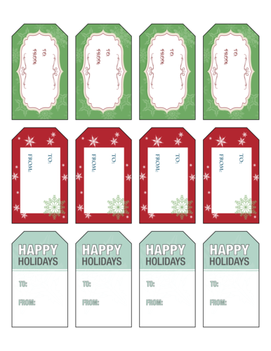 Holiday gift tags png. Complimentary tag labels to