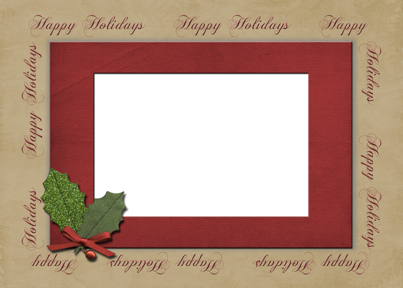 christmas card template png