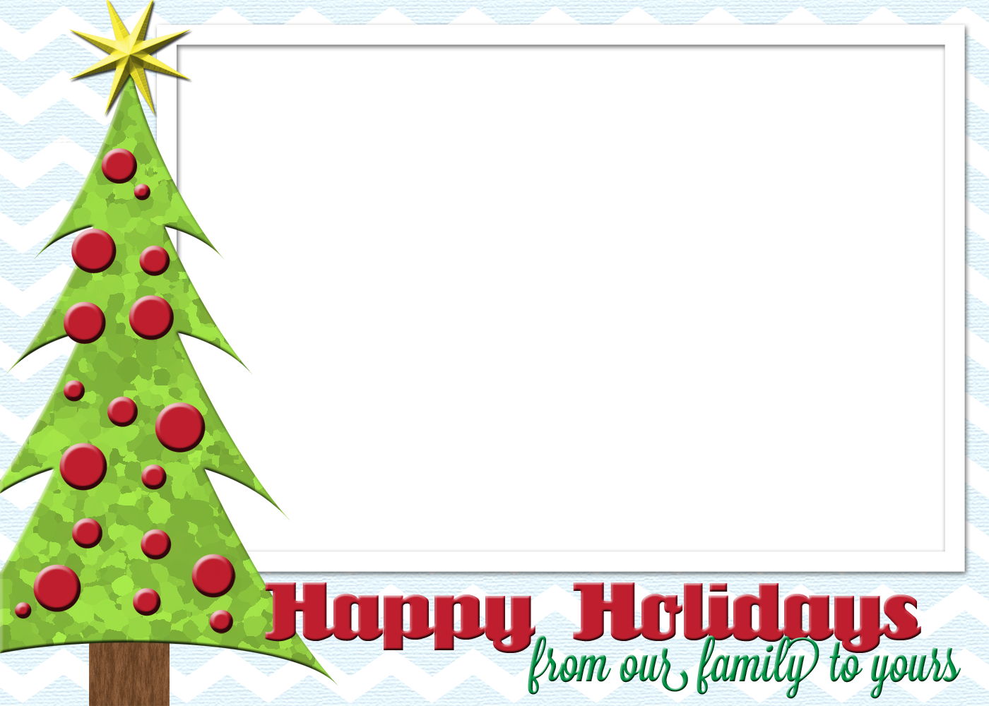 Holiday greeting card border png. Dorable what to say