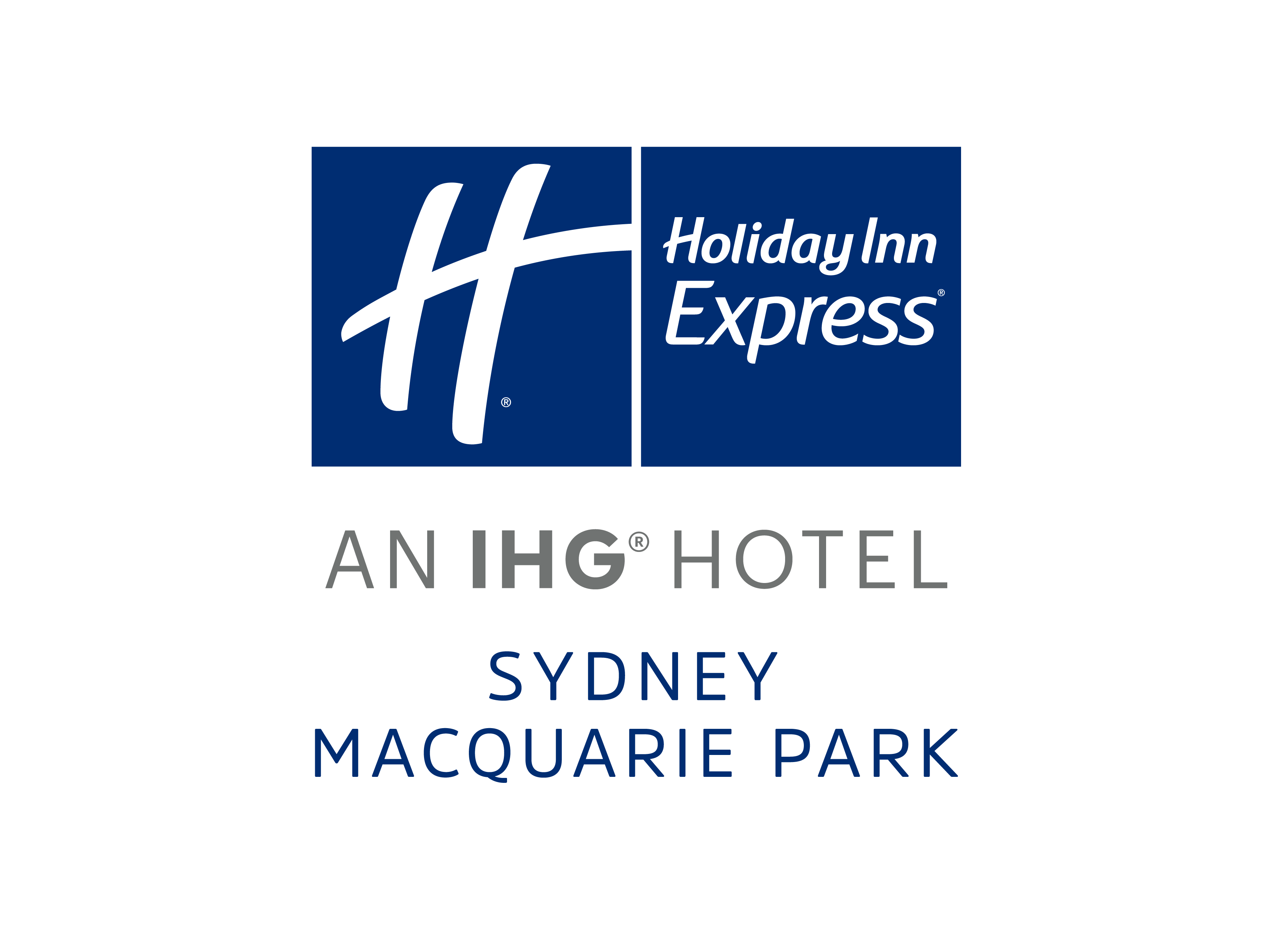 Holiday inn express logo png. Sydney macquarie park digital