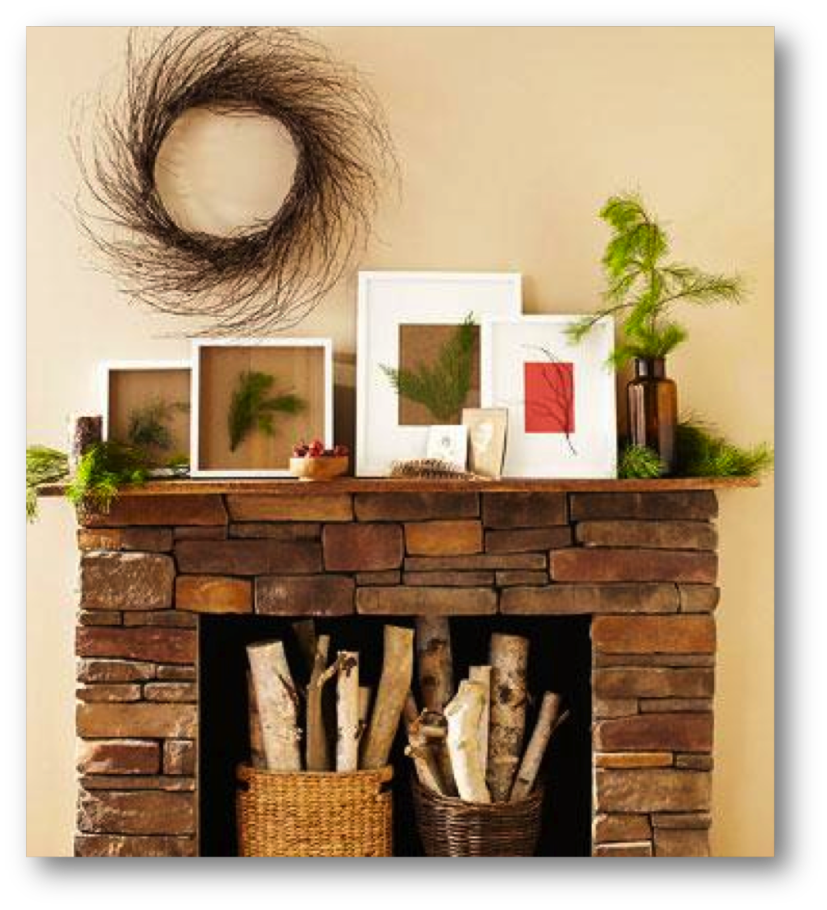 Holiday mantel png. Such a lovely rustic