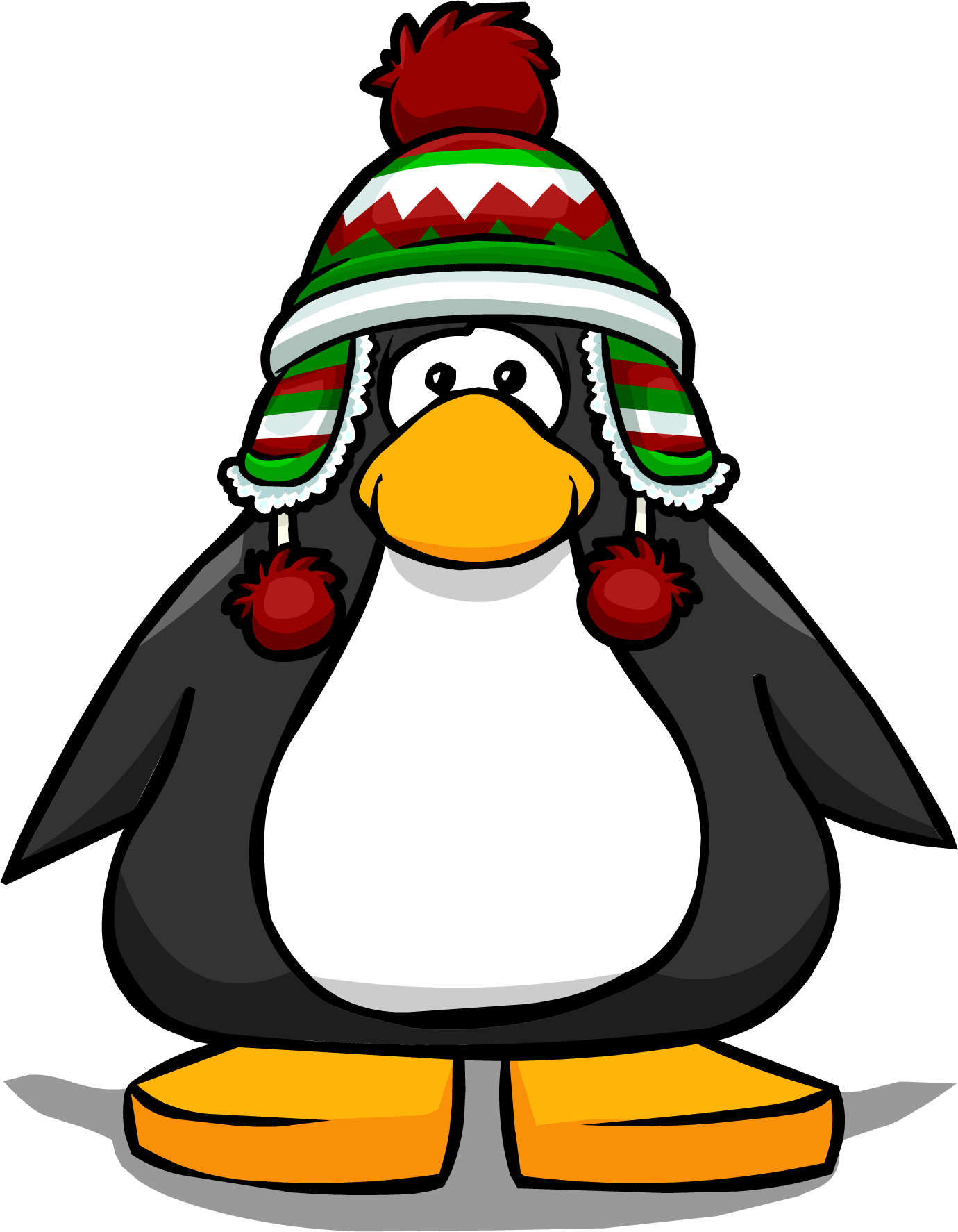 Holiday penguin png. Image toque pc club