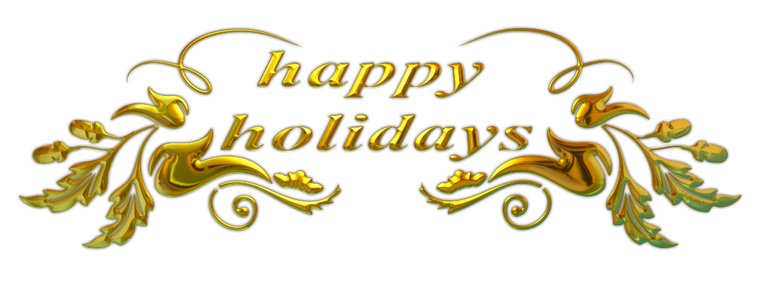 happy holidays clipart sparkling