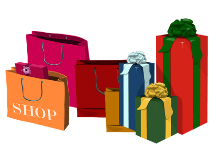 Holiday shopping clipart png. Download wallpaper bags full