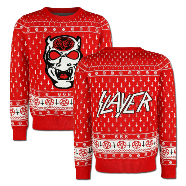 Holiday sweater png. White demon xmas in